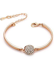 Fashion Rose Gold Round Shape Decorated Bracelet