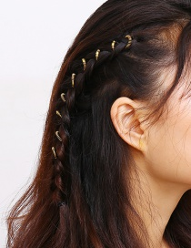 Fashion Antique Gold Round Shape Design Hair Accessories(5pcs)