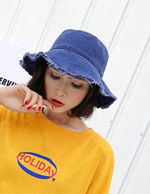 Fashion Navy Pure Color Design Leisure Fisherman Hat