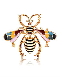 Fashion Multi-color Insect Shape Design Color Matching Brooch