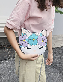 Lovely White Cat Shape Design Shoulder Bag