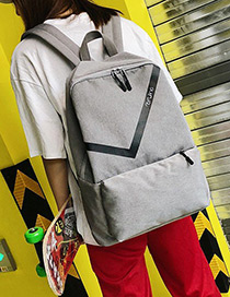 Fashion Gray Double Zippers Design Hip-hop Waterproof Backpack