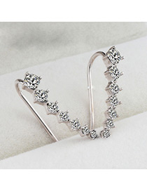 Fashion Silver Color Pure Color Design Long Earrings