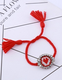 Fashion Red Heart Pattern Decorated Bracelet