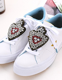 Fashion Black Heart Shape Decorated Shoe Accessories(2pcs)