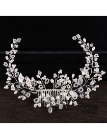 Fashion White Full Diamond Decorated Hair Accessories