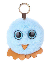 Fashion Blue Chick Shape Decorated Keychain