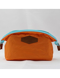 Fashion Orange Letter Pattern Decorated Storage Bag