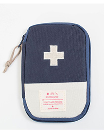 Fashion Navy+white Color-matching Decorated Storage Bag