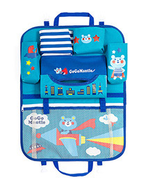 Fashion Blue Cartoon Patterns Decorated Storage Bag