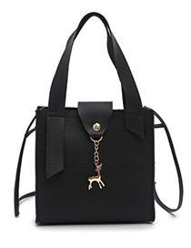 Fashion Black Deer Shape Decorated Handbag