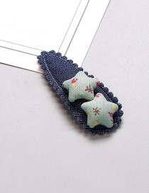 Fashion Green Star Shape Decorated Hair Clip