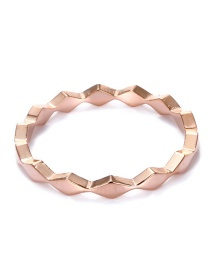 Fashion Rose Gold Round Shape Decorated Pure Color Ring