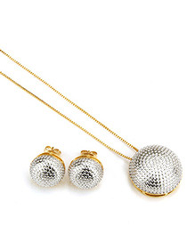 Fashion Silver Color Round Shape Decorated Jewelry Set