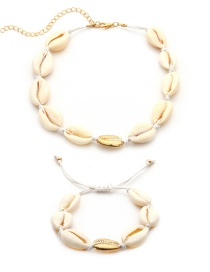Fashion White Shell Shape Decorated Jewelry Set