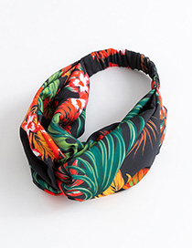 Fashion Multi-color Leaf Pattern Decorated Hair Band