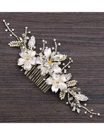 Fashion Gold Color Flower Shape Decorated Hair Accessories