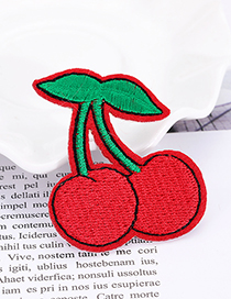 Fashion Red Cherry Shape Decorated Patch