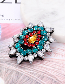 Fashion Multi-color Water Drop Shape Decorated Patch
