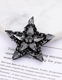 Fashion Dark Gray Star Shape Decorated Pure Color Patch
