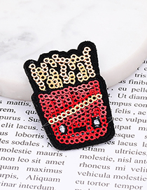 Fashion Red Chips Shape Decorated Patch