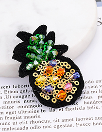 Fashion Multi-color Pineapple Shape Decorated Patch