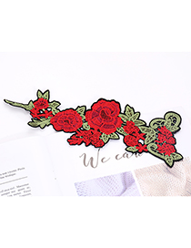 Fashion Red+green Flower Shape Decorated Patch