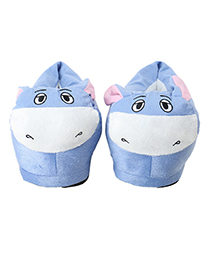 Lovely Blue+white Donkey Shape Design Thickened Shoes(for Child )