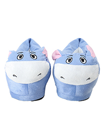 Lovely Blue+white Donkey Shape Design Thickened Shoes(for Adult)
