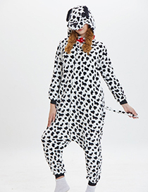 Lovely Black+white Cartoon Dog Shape Design Pajamas(for Child )