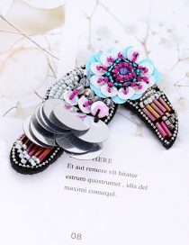 Fashion Multi-color Beads Decorated Color Matching Patch