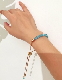 Fashion Blue Tassel Decorated Bracelet