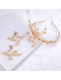 Fashion Gold Color Full Diamond Decorated Hair Hair Accessories