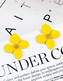 Fashion Yellow Flower Shape Decorated Earrings