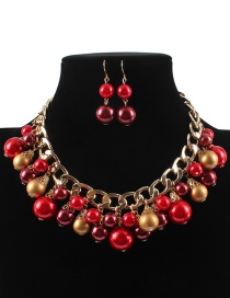 Vintage Red Hollow Out Design Jewelry Sets