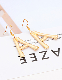 Fashion Gold Color Letter A Shape Decorated Earrings