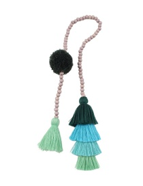 Fashion Green Tassel Decorated Keychain