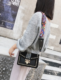 Fashion Black Rivet Decorated Bag