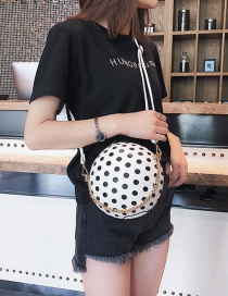 Fashion White Dots Pattern Decorated Round Bag