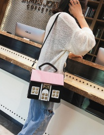 Fashion Beige House Shape Decorated Handbag