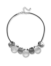 Simple Silver Color Pure Color Decorated Necklace