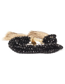 Fashion Black Bead&tassel Decorated Bracelet