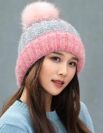 Fashion Pink Stripe Pattern Decorated Hat