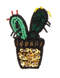 Fashion Multi-color Cactus Shape Design Color Matching Brooch