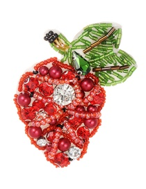 Fashion Red Strawberry Shape Design Simple Patch