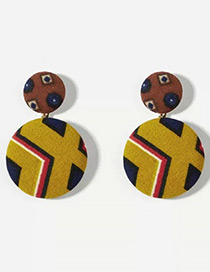 Fashion Multi-color Geometric Shape Pattern Design Earrings