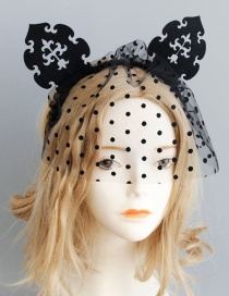 Fashion Black Dots Pattern Decorated Hair Accessories