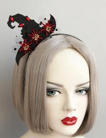 Fashion Black+red Wizard Hat Shape Deisgn Hairband