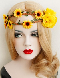 Fashion Yellow Sunflower Shape Deisgn Hair Accessories