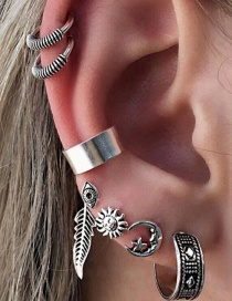 Fashion Silver Color Leaf Shape Decorated Earrings Sets